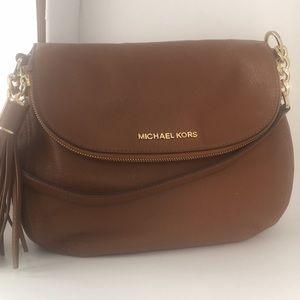 Michael Kors luggage tan leather satchel (A)